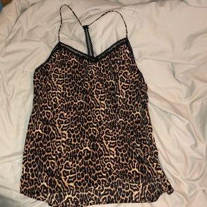 Leopard print cami tank top